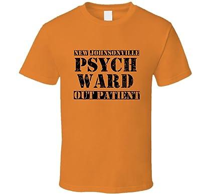new johnsonville tennessee psych ward funny halloween city costume t shirt s orange