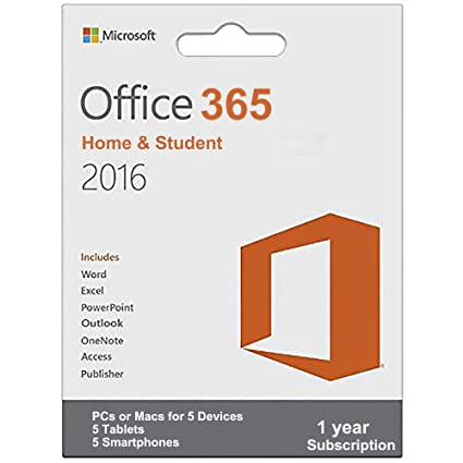 Microsoft Office 365 | Home & Students | 1 Year Subscription