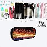 Work Double Zipper Pen Bag Multi-Function Storage