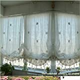 """YOUSA Tie-Up Window Curtain Cutwork Crochet Embroidered Curtain 58""""W x 69""""L – Cream White Review"""