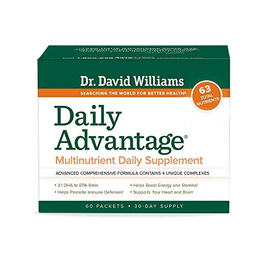 Dr. David Williams' Daily Advantage Multi-Nutrient Vitamin Supplement for Boundless Energy and Total Body Wellness, 60 Packets (30-Day Supply)