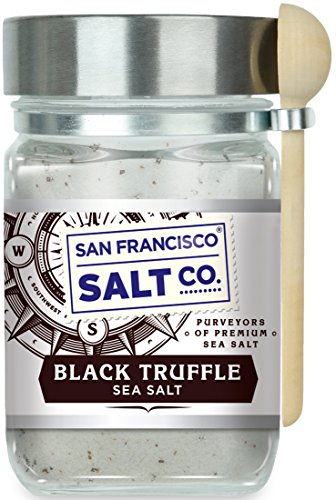 8 oz. Chef's Jar - Authentic Italian Black Truffle Gourmet Sea Salt