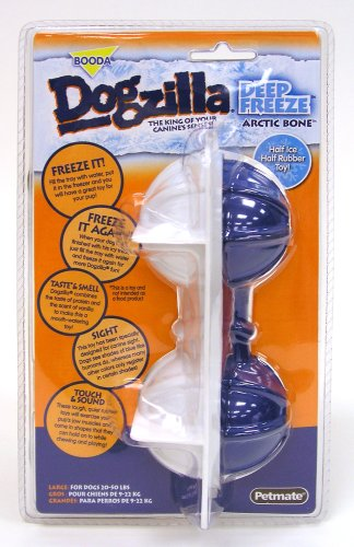 Petmate Dogzilla Dog Toy Deep Freeze, Arctic Bone, Large