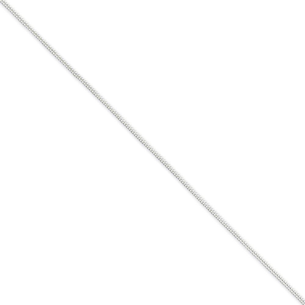Leg Avenue .925 Sterling Silver 1.20MM Round Snake Link Anklet Bracelet 9 inches