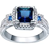 Fashion Women Jewelry Sapphire Gemstone 925 silver Ring (10)