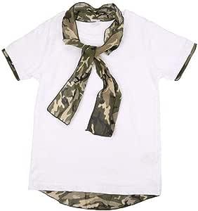 T-Shirt with Camouflage Necktie