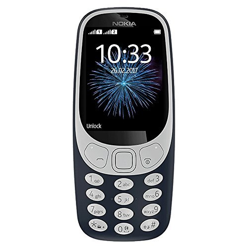 Nokia 3310 3G - Unlocked Single SIM Feature Phone (AT&T/T-Mobile/MetroPCS/Cricket/Mint) - 2.4 Inch Screen - Charcoal by Nokia