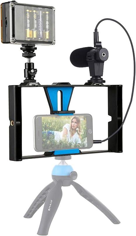 Puluz 3 en 1 Vlogging Live Broadcast Herramienta Accesorios LED ...