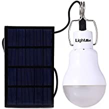 LightMe 2016 Newest Portable 15W 130LM Solar Powered Led Bulb Light Outdoor Solar Energy Lamp Lighting for Hiking Fishing Camping Tent(White-1)