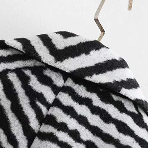 lisse moyenne Manteau et boucle pour manches hiver poilu sans au garder gg chaud automne revers à longues Zyg femmes section doux RgqO5v8x