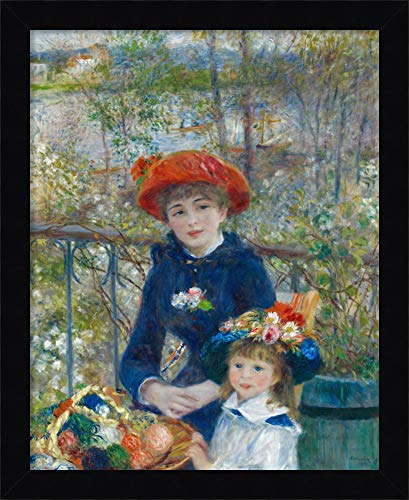 (Framed Canvas Wall Art Print | Home Wall Decor Canvas Art | Two Sisters, or On The Terrace, 1881 by Pierre-Auguste Renoir | Modern Decor | Stretched Canvas Prints)