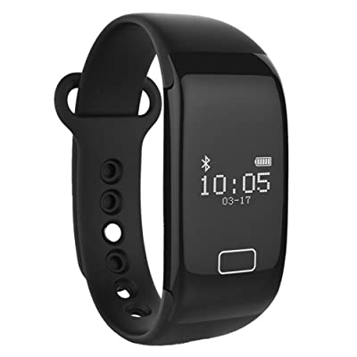 GUOPENGFEI Heart Rate bracelet intelligent Montre Heart Rate Monitor Smart Band sans fil Fitness Tracker Wristband pour Android iOS