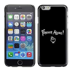 TopCaseStore / la caja del caucho duro de la cubierta de protección de la piel - Forever Alone LOL - Apple iPhone 6 Plus 5.5