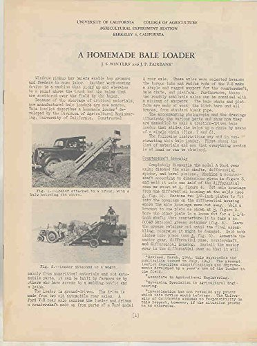 1938 Ford Farm Truck Bale Loader Brochure UC Berkeley Agriculture School from Ford