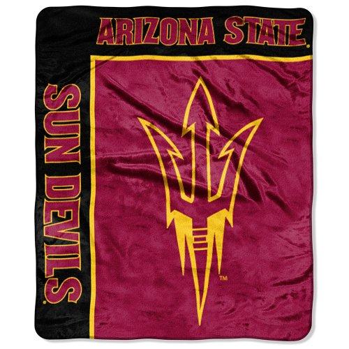 Officially Licensed NCAA Arizona State Sun Devils School Spirit Plush Raschel Throw Blanket, 50