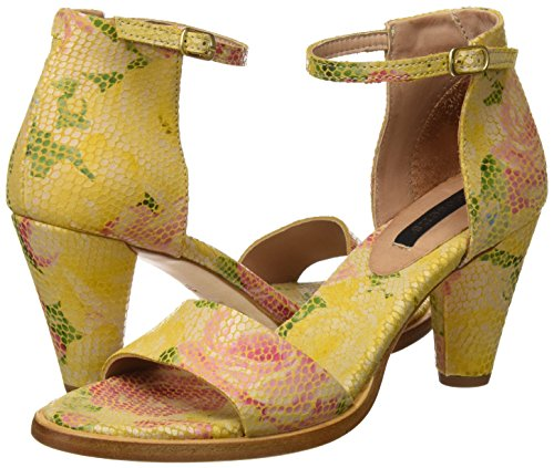 Floral Colores Varios Fantasy De Neosens Con S990 Sandalias Yellow Tobillo floral Yellow Para Montua Correa Mujer pwnSFEqOS