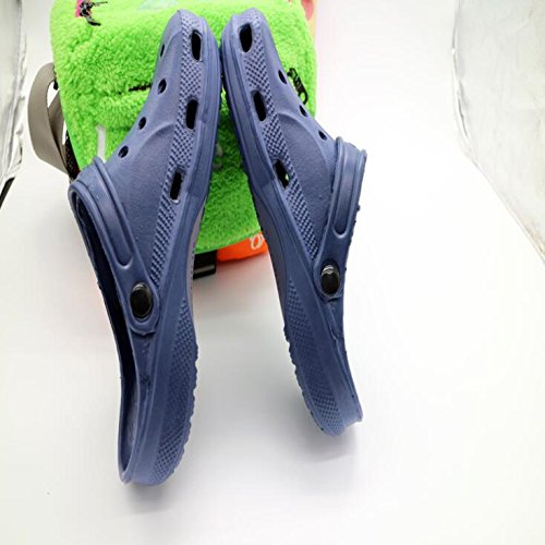 Shoes Beach Hole Slippers Blue Creative SUxian Sandals Breathable Size Men's Dark Color Blue 43 Dark Shoes Slippers dIYnXX0q