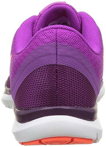 Nike Wmns Flex Trainer 6, Zapatillas de Gimnasia para Mujer Azul (Hypr Vlt / Ttl Crmsn-Csmc Prpl-B)