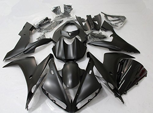 (ZXMOTO Motorcycle Bodywork Fairing Kit For Yamaha YZF R1 2004-2006 2005 ABS Injection Painted Matte Black)