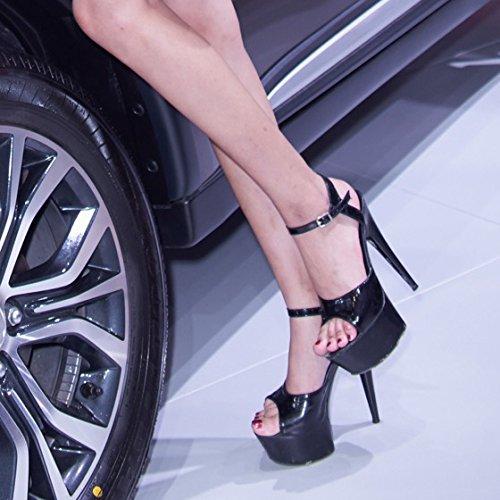 alto Moda YMFIE dance Europeo estate sexy temperamento elegante donna gules tacchi tacco party sandali w6pqxIq5