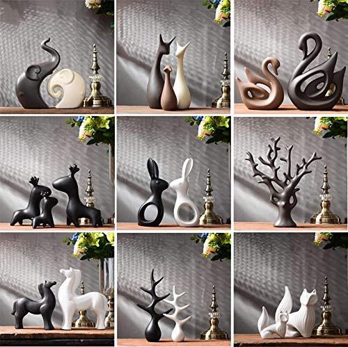 ZANAN Figurines & Miniatures - Simple Modern Ceramic Figurines Livingroom Ornament Home Furnishing Decoration Crafts Office Coffee Accessories Wedding Gift 1 PCs