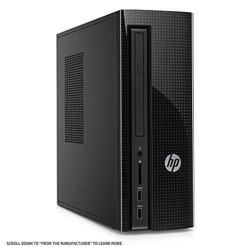 HP Slimline Desktop Computer, AMD E2-9000, 4GB RAM, 1TB hard drive, Windows 10 (270-a011, Black) by HP (Image #4)