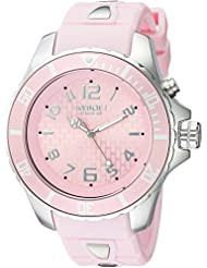 KYBOE! Power Quartz Stainless Steel and Silicone Casual Watch, Color:Pink (Model: KY.48-041.15)