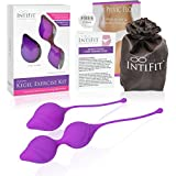 IntiFit Premium Kegel Exercise Kit for Women - Medical Silicone Pelvic Floor Weight Set - For Bladder Control and Pelvic Floor Exercises