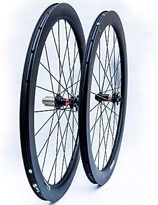 BIKEWISH Aero 50 Disc - Juego de Ruedas de Carbono para Bicicleta ...