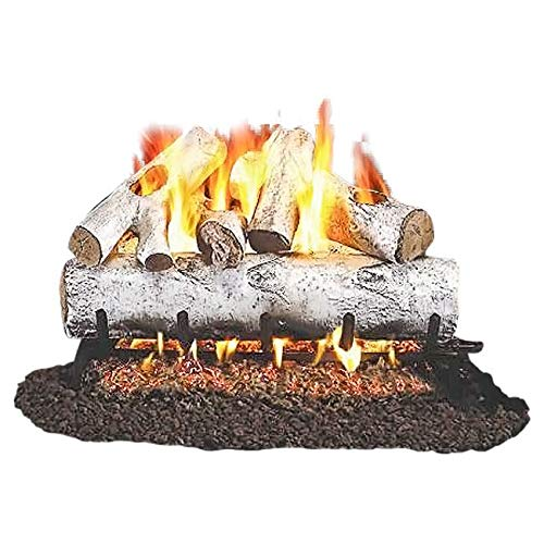 birch logs for gas fireplace - 9