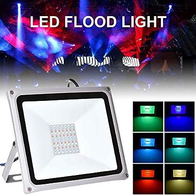 100W Foco LED RGB de Exterior impermeable IP65 LED Foco de Colores ...
