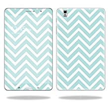 """Mightyskins Protective Vinyl Skin Decal Cover for Samsung Galaxy Tab Pro 8.4"""" T320 Tablet skins wrap sticker skins Aqua Chevron"""