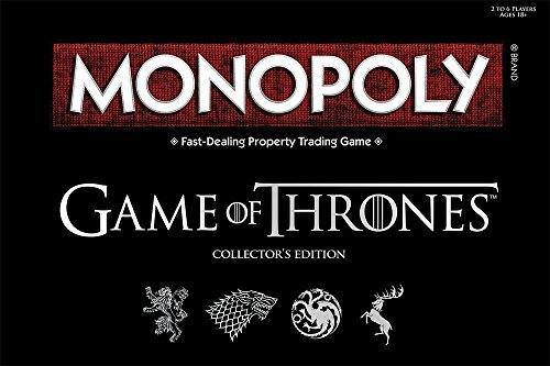 Monopoly Game of Thrones Board Game | Collectable Monopoly Game | Official Game of Thrones Merchandise | Based on the popular TV Show on HBO Game of Thrones | Themed - Monopoly Edition Game