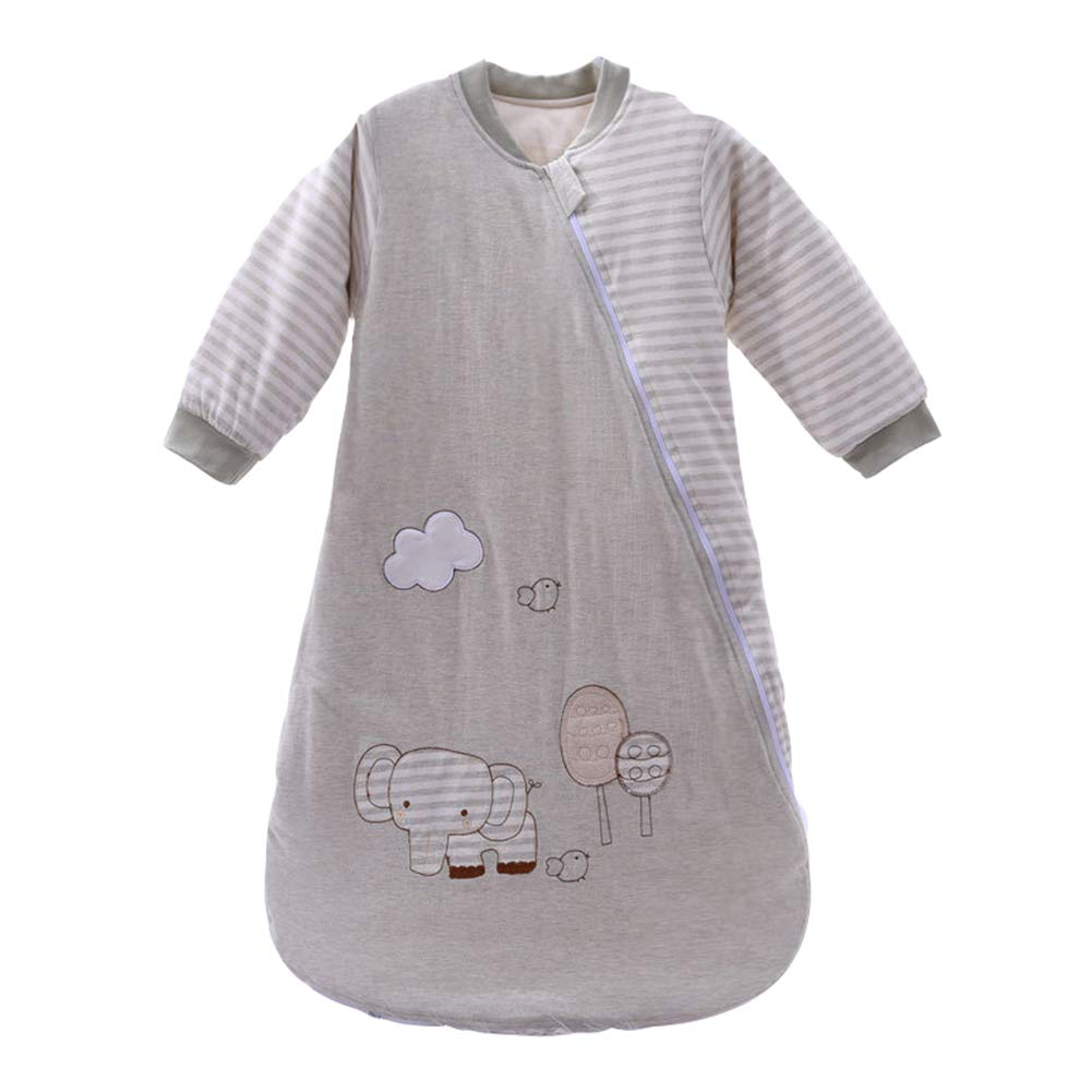 NOMSOCR ユニセックス ベビー スリープ ネスト スリーピング サック 暖かい ベビー スリーピング バッグ ウェアラブル ブランケット 0~2歳の新生児と幼児用 one size グレー  グレー B07LBPPLYH