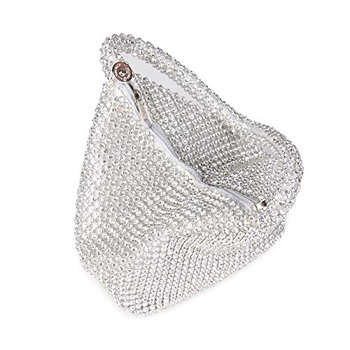 Bridalmaid Crystal silver Diamond Lady For Wedding Women Evening Beaded Cover Open Style Bag Bags Hollow Gift Purse KLLXEB Bag Handbags Clutch qCO511