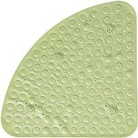 BUYGOO Alfombrilla de Ducha Antideslizante para Baño 56 x 56 cm Diseño de Triángulo, con Agujero de Drenaje para Ducha o…