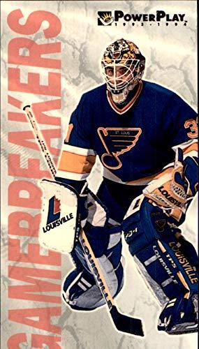 1993-94 Fleer PowerPlay Gamebreakers #4 Curtis Joseph St. Louis Blues Cujo oversized NHL Trading card measuring 2 1/2