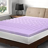 Best Price Mattress Queen Mattress Topper - 3 inch 5-Zone Memory Foam Bed Topper Lavender Infused Cooling Mattress Pad, Queen Size