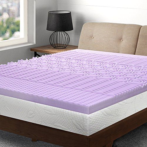 Best Price Mattress Queen Mattress Topper - 3 Inch 5-Zone Memory Foam Bed Topper with Lavender Infused Cooling Mattress Pad, Queen Size by Best Price Mattress