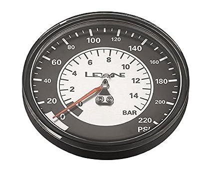 Lezyne 1-RP-FLGUE-V3220 Manómetro de Reemplazo, Negro/Plateado, M
