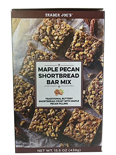Bar Pecan Maple - Trader Joe's Maple Pecan Shortbread Bar Mix - Buttery Shortbread Crust with Maple and Pecan Filling