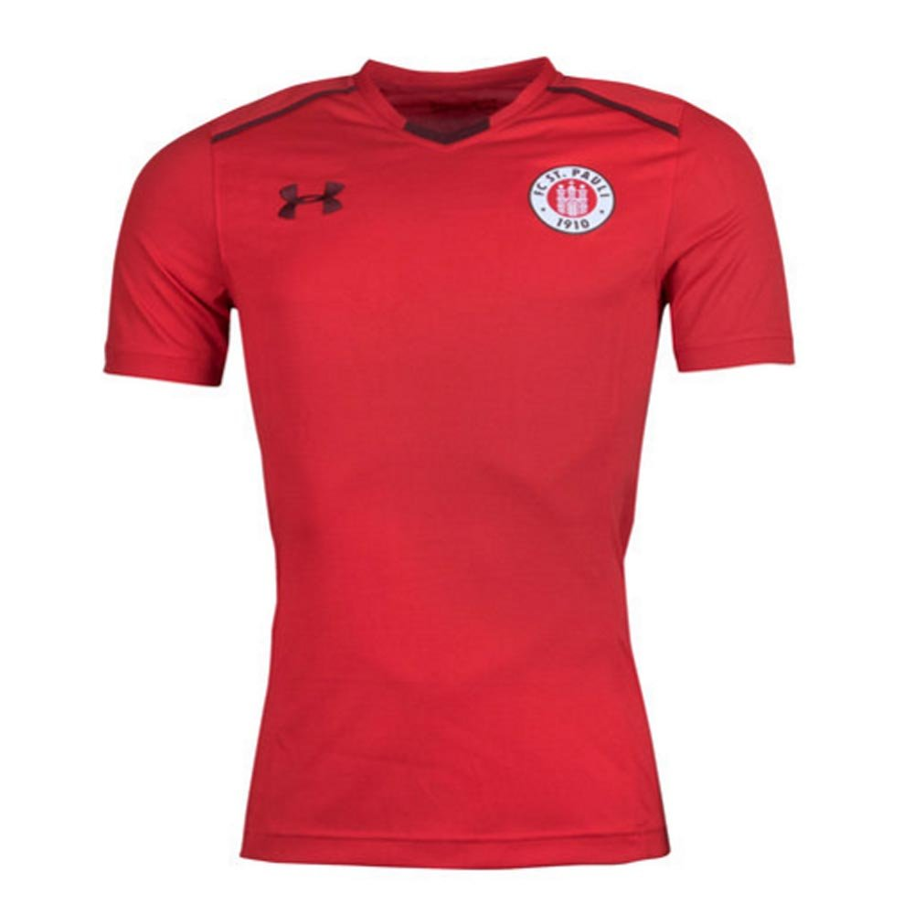 2017-2018 St Pauli Training Shirt (ROT)