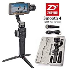 Shooting Has Never Been So Easy, But Now We Have SMOOTH 4! Zhiyun 2018 New Released Model Advance Features: 1.Hot Keys Design for Instant Controls 2.Smooth Zooming and Precise Focusing 3.PhoneGo Mode for Instant Scene Transition 4.Two-way Cha...
