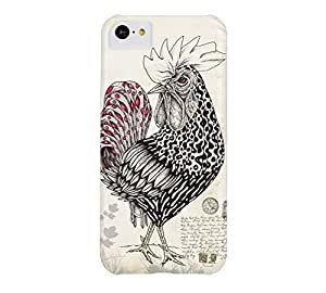The Rooster iPhone 5c Black Barely There Phone Case - Design By Humans