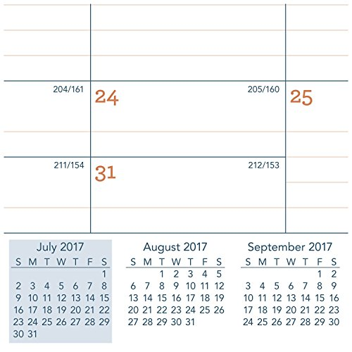 AT-A-GLANCE Academic Desk Pad Calendar, July 2017 - June 2018, 21-3/4