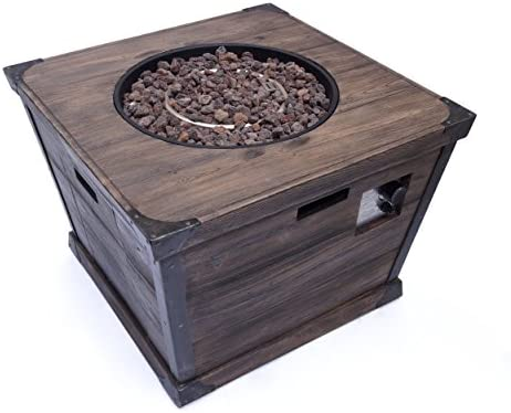 Christopher Knight Home 303742 Madge Outdoor 32 Inch Square Fire Pit-40,000 BTU, Brown