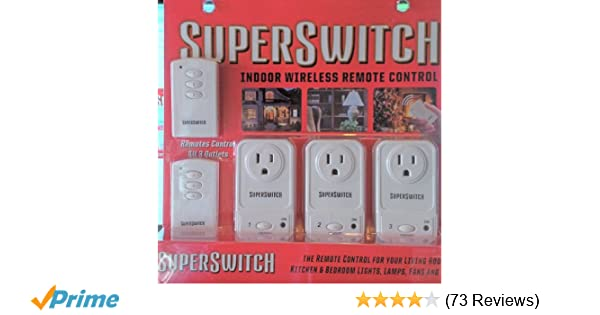 Super Switch Indoor Wireless Remote Control Electrical Outlet