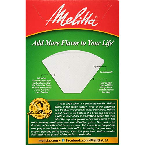 Melitta Cone Coffee Filter, White No. 4, 100 Count (Pack of 6) by Melitta (Image #4)