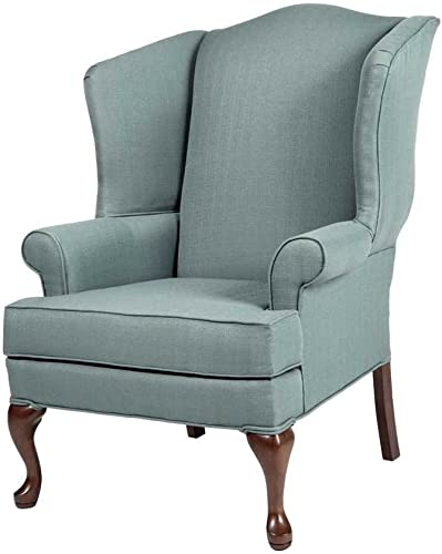 Comfort Pointe Erin Wing Back Chair Blue