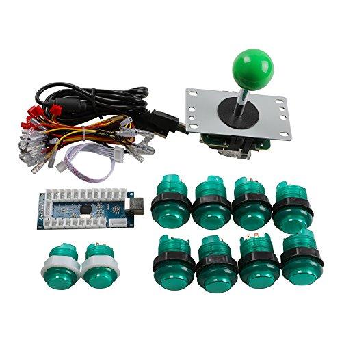 Easyget LED Arcade DIY Parts 2x Zero Delay USB Encoder + 2x ... on